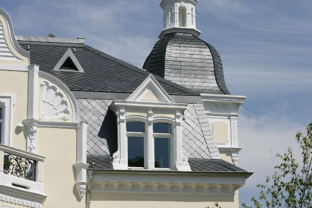 Эстетика в деталях: остроугольная кладка для основной крыши, кладка «рыбья чешуя» для башни - 5